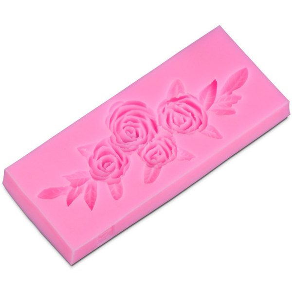 Rose Flower Silicone Fondant Mold - bakeware bake house kitchenware bakers supplies baking