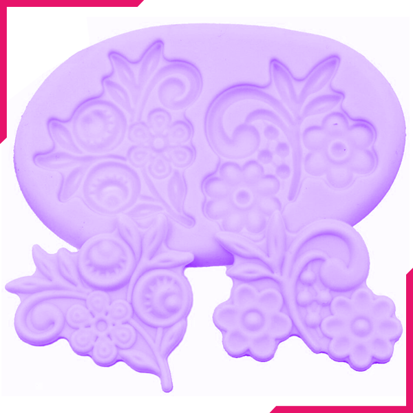 Silicone Mold Flower Lace Gumpaste - bakeware bake house kitchenware bakers supplies baking
