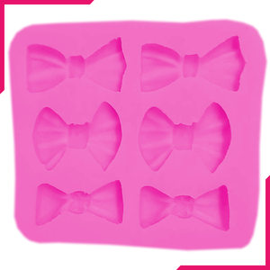 Silicone Fondant Mold Bow Shapes - bakeware bake house kitchenware bakers supplies baking