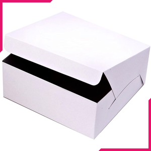 White Bakery Box - bakeware bake house kitchenware bakers supplies baking