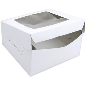 White Bakery Box With Window