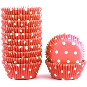 Peach Color Dot Mini Cupcake Liners 200pcs