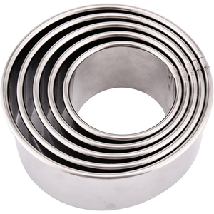 Stainless Steel Round Cookie Cutter Set