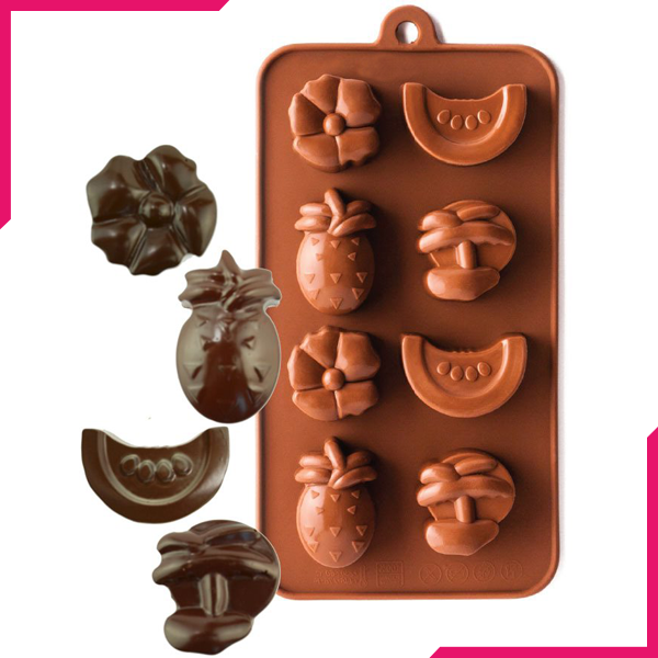 Silicone Chocolate Mold Tropical Fruit - bakeware bake house kitchenware bakers supplies baking