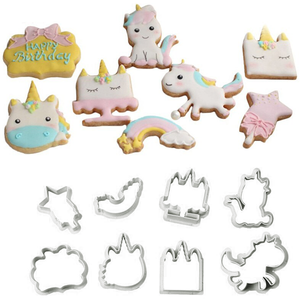 Plastic Unicorn Cookie Cutter Set