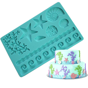 Sea Life Fondant Gum Paste Silicone Mold