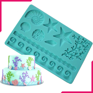 Sea Life Fondant Gum Paste Silicone Mold - bakeware bake house kitchenware bakers supplies baking