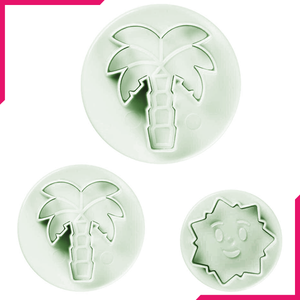 Plunge Cutter Palm Tree & Sun - bakeware bake house kitchenware bakers supplies baking