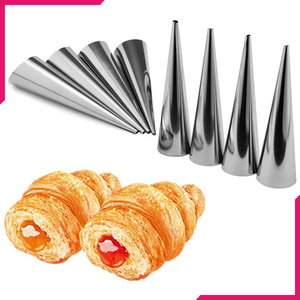 Stainless Steel Cream Roll Cones 8Pcs