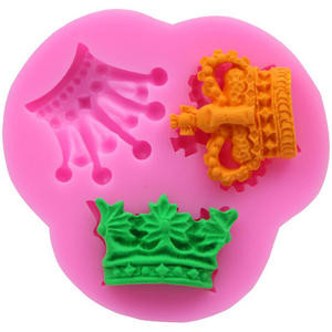 3D Crown Silicone Mold 3 Cavity - bakeware bake house kitchenware bakers supplies baking