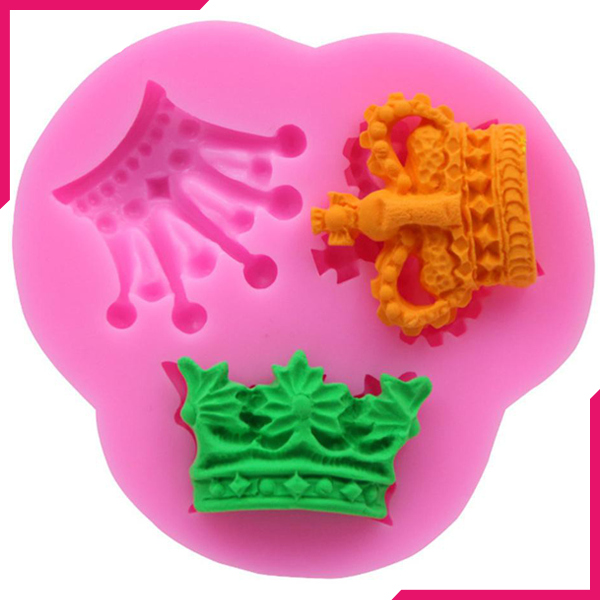 3D Crown Silicone Mold 3 Cavity