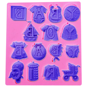 Baby Theme Silicone Mold - bakeware bake house kitchenware bakers supplies baking