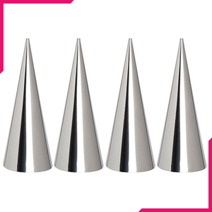 Stainless Steel Cream Roll Cones 4pcs