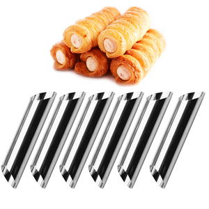 Stainless Steel Cannoli Tube 6Pcs - bakeware bake house kitchenware bakers supplies baking
