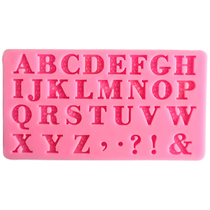 Alphabet & Symbols Silicone Mold - bakeware bake house kitchenware bakers supplies baking