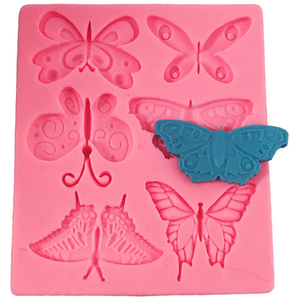 Butterfly Silicone Mold 6 Cavity - bakeware bake house kitchenware bakers supplies baking