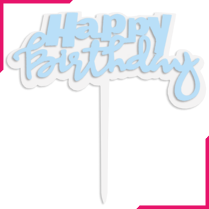 Happy Birthday Cake Topper Transparent Border - bakeware bake house kitchenware bakers supplies baking