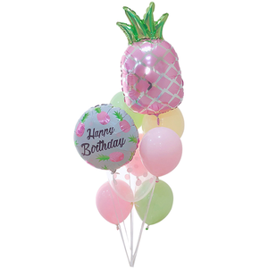 Foil Balloons Happy Birthday Pineapple 9Pcs - bakeware bake house kitchenware bakers supplies baking