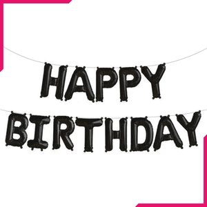 Happy Birthday Letter Foil Balloons - bakeware bake house kitchenware bakers supplies baking