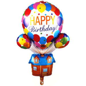 Happy Birthday Hot Air Foil Balloon - bakeware bake house kitchenware bakers supplies baking
