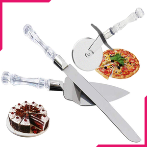 Pizza cutter, lifter and knife 3 pcs set - bakeware bake house kitchenware bakers supplies baking