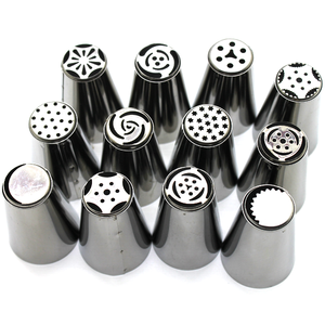 Russian Nozzle/Tip Set 12 Pcs - bakeware bake house kitchenware bakers supplies baking