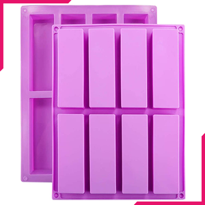 Rectangle Silicone Mould - 8 Cavity - bakeware bake house kitchenware bakers supplies baking