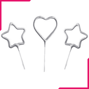 Birthday Candles Heart & Stars - bakeware bake house kitchenware bakers supplies baking