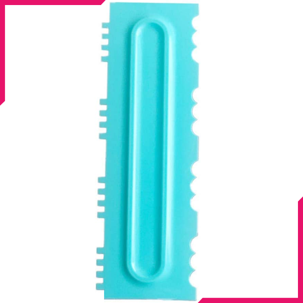 Cake Icing Comb Blue Design 7 - bakeware bake house kitchenware bakers supplies baking