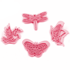 Butterfly Fondant Stamp 4pcs - bakeware bake house kitchenware bakers supplies baking