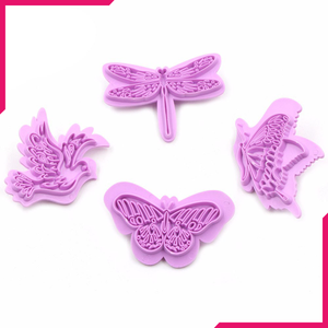 Butterfly Fondant Stamp 4pcs