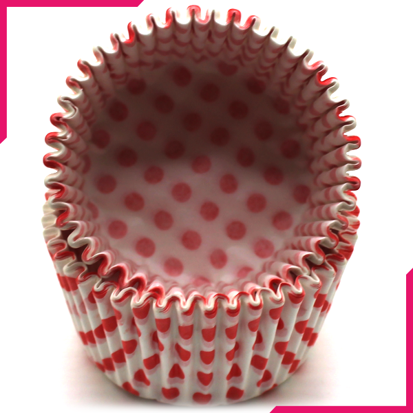 Pink Dots Cupcake Liners 100pcs - bakeware bake house kitchenware bakers supplies baking