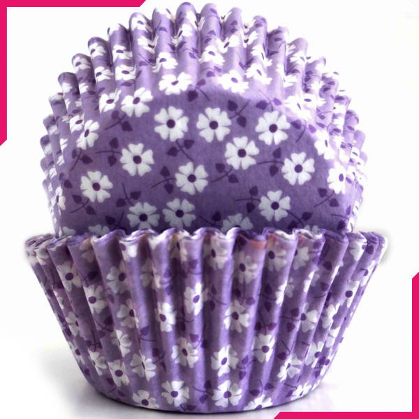 Purple Blossom Cupcake Liners - bakeware bake house kitchenware bakers supplies baking