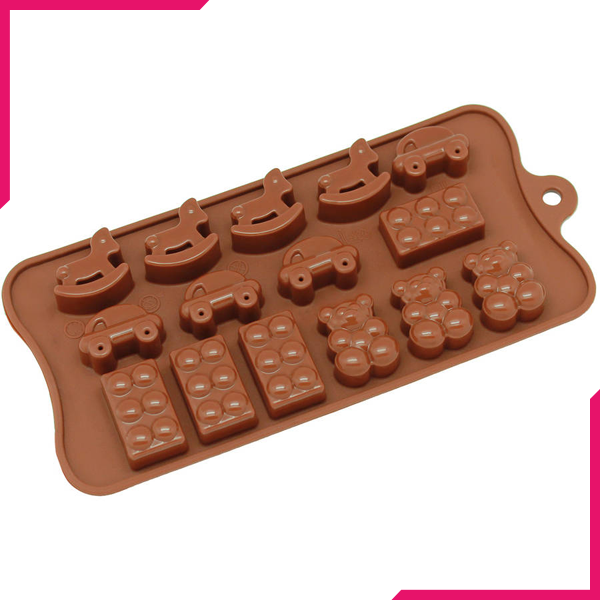 Rocking Horse, Car, Block, Chocolate Mold - bakeware bake house kitchenware bakers supplies baking