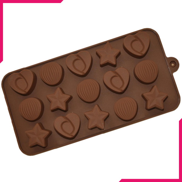 Star, Heart, Shell Silicone Chocolate Mold - bakeware bake house kitchenware bakers supplies baking