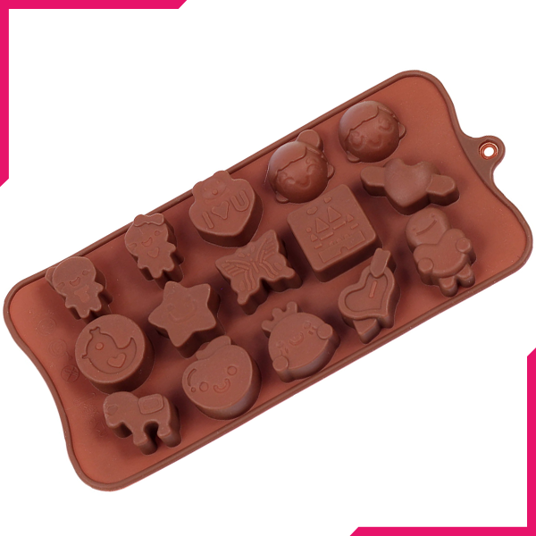 Gingerbread Man Love Chocolate Mold - bakeware bake house kitchenware bakers supplies baking