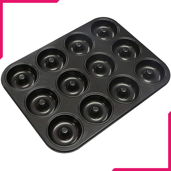 Non-Stick Donut Tray 12 Cavity - bakeware bake house kitchenware bakers supplies baking