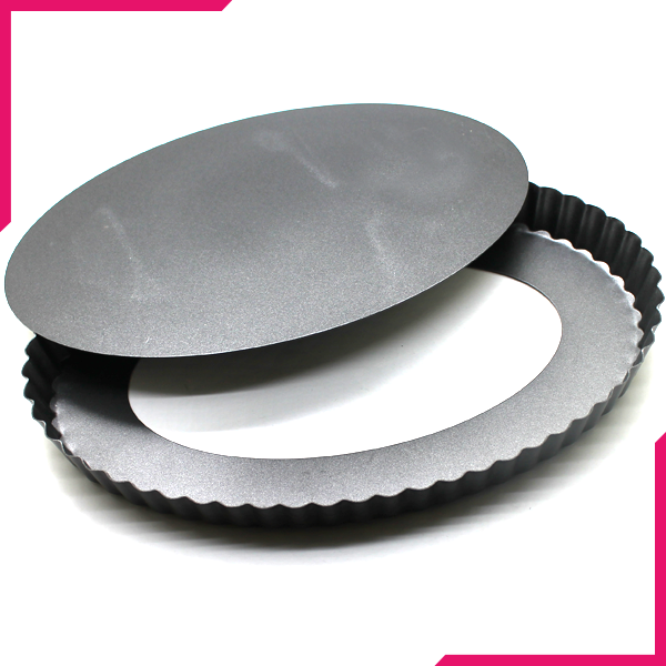 Pie Pan Removable Bottom Oval Shaped - bakeware bake house kitchenware bakers supplies baking