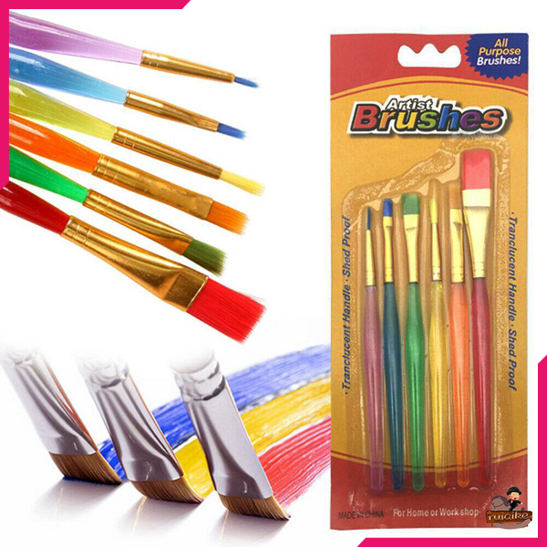 Decorating Brush Set 6 Pcs - bakeware bake house kitchenware bakers supplies baking