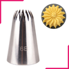 6B Stainless Steel Icing Nozzle - bakeware bake house kitchenware bakers supplies baking