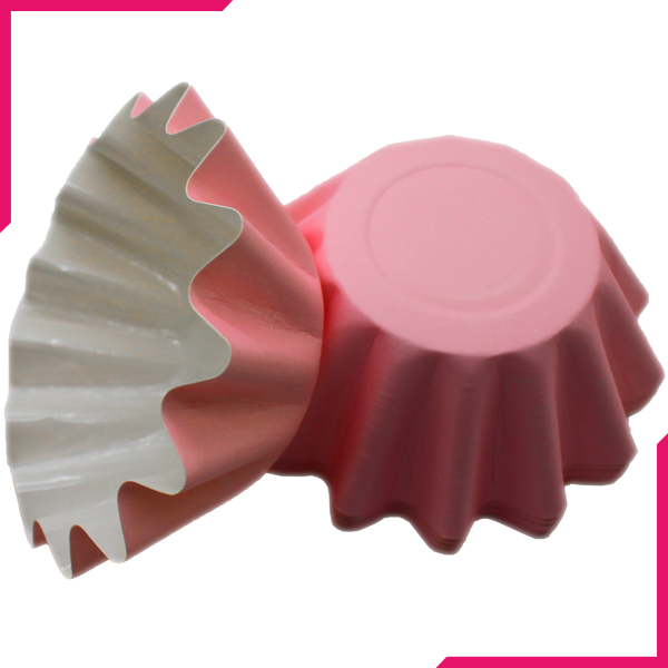 Hard Paper Cupcake Liners Baby Pink 50pcs - bakeware bake house kitchenware bakers supplies baking