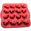 Silicone Chocolate Mold Snowman 16 Cavity