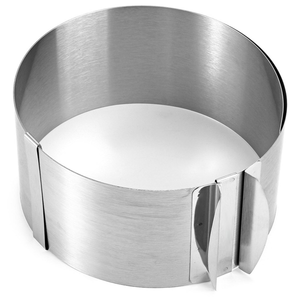 "6""-12"" Stainless Steel Adjustable Cake Ring - bakeware bake house kitchenware bakers supplies baking"