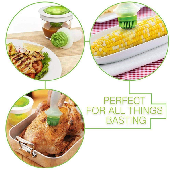 Silicone Chef's Basting Oil Brush Set - bakeware bake house kitchenware bakers supplies baking