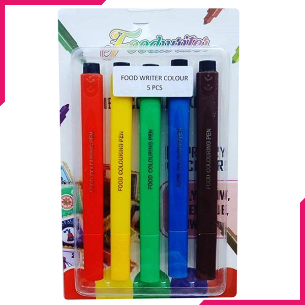 Food Marker Writer Set 5pc - bakeware bake house kitchenware bakers supplies baking