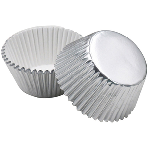 54pcs Aluminum Thickened Foil Cups Cupcake Liners Mini Cake Muffin Molds Baking Molds - bakeware bake house kitchenware bakers supplies baking