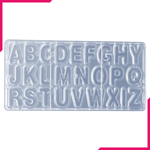 Cake Decor 26 Cavity Alphabet Shape Polycarbonate Chocolate Mould - bakeware bake house kitchenware bakers supplies baking