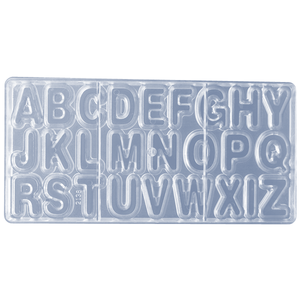 Cake Decor 26 Cavity Alphabet Shape Polycarbonate Chocolate Mold - bakeware bake house kitchenware bakers supplies baking