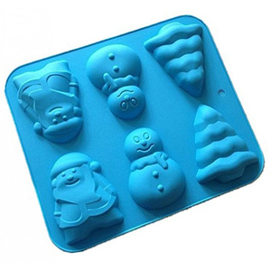 Silicone Christmas Theme Cupcake Mold 6 Cavity - bakeware bake house kitchenware bakers supplies baking