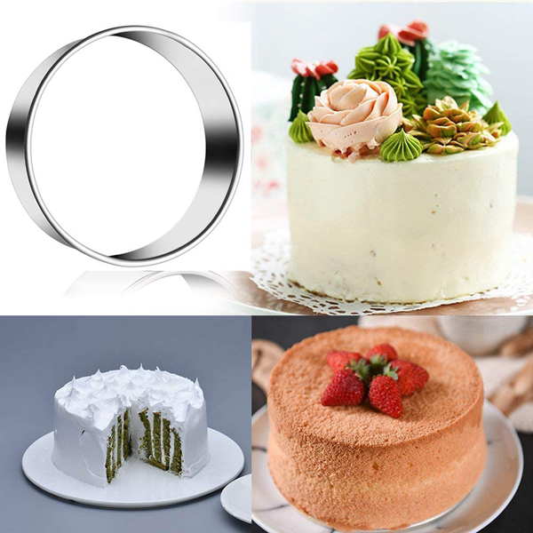 Stainless Steel Round Cookie Cutter Set 3Pcs - 5.5cm, 6.5cm, 7.5cm - bakeware bake house kitchenware bakers supplies baking